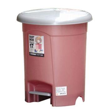 【魔術大空間】朝代17L圓型垃圾桶(紅色)
