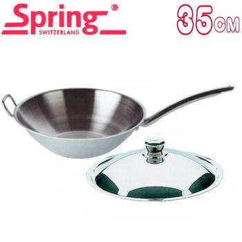 【瑞士Spring】CRISTAL單柄中式炒鍋35cm