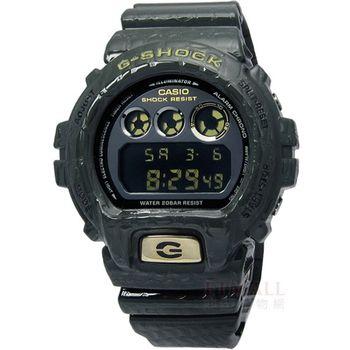 G-SHOCK鱷魚立體壓紋亮面電子腕錶_綠DW-6900CR-3