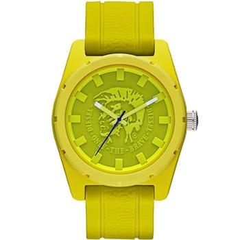 DIESEL 霸氣時尚龐克腕錶-黃/綠 DZ1626