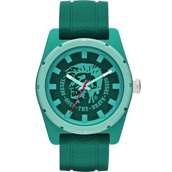DIESEL 霸氣時尚龐克腕錶-綠 DZ1625