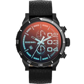 DIESEL  忍者戰將霸氣再現計時腕錶-IP黑