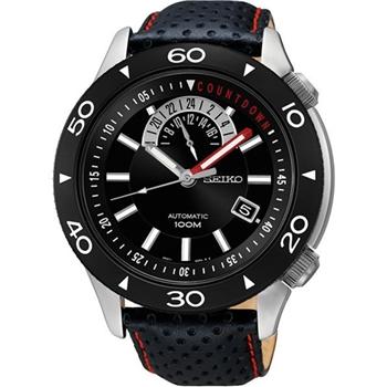 SEIKO 4R37絕地爭霸時尚機械腕錶-黑 4R37-00V0D