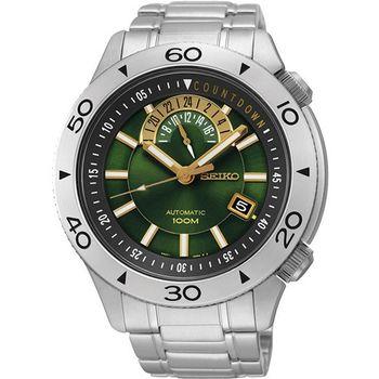 SEIKO 4R37絕地爭霸時尚機械腕錶-綠 4R37-00V0G