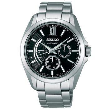SEIKO BRIGHTZ Comfotex旗鑑經典機械腕錶-黑銀