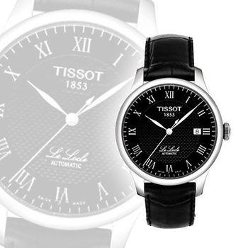 TISSOT Le Locle 力洛克圖騰紋機械錶-黑 T4114