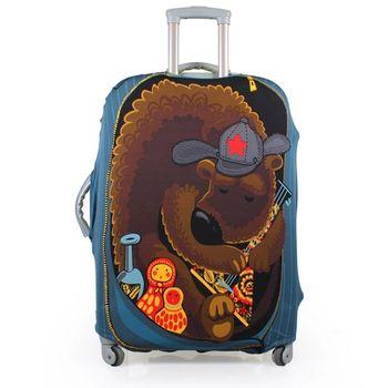 【PUSH!】俄羅斯娃娃熊行李箱彈力保護防塵套-28吋