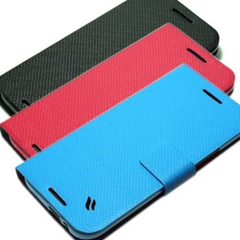 Redberry HTC One (M8) 甜漾簡約立架式側掀皮套