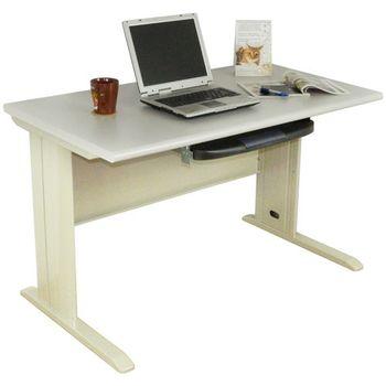 【時尚屋】4尺CD灰色辦公桌 (含鍵盤架)Y94-6