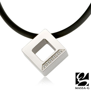 MASSA-G LJ純鈦系列【晶點‧瑟蕾娜】方塊晶點 鍺鈦項鍊-網