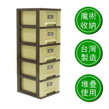 【E-BOX】加州五層櫃(附輪)