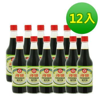 《龜甲萬》薄鹽醬油 1箱12入 (500ml/瓶)