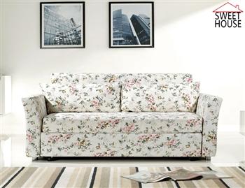 【甜美家】小花朵多功能沙發床-加贈2個精美抱枕