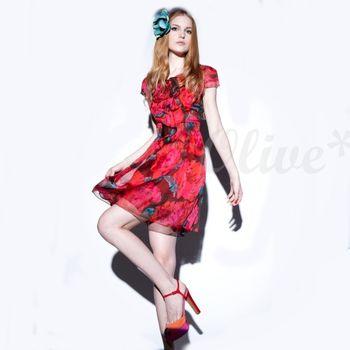 【CHENG DA】時尚高貴氣質短袖洋裝