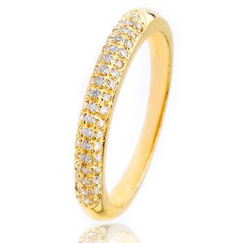 美帝亞  經典鑽石線戒-金(鑽石共0.25克拉)(預購)