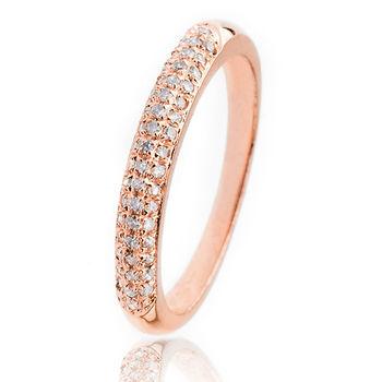 美帝亞  經典鑽石線戒-玫瑰金(鑽石共0.25克拉)(預購)