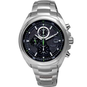 CITIZEN 輕感‧ 光動能鈦金屬腕錶_黑 CA0190-56E