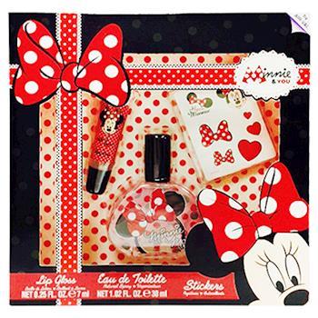 Minnie & You 經典米妮 女性淡香水禮盒(香水+唇蜜)贈Disney噴霧*1(隨機款)