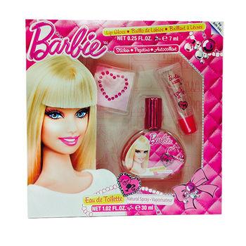 Barbie 時尚芭比 淡香水禮盒-彩妝版 贈Disney噴霧*1(隨機款)