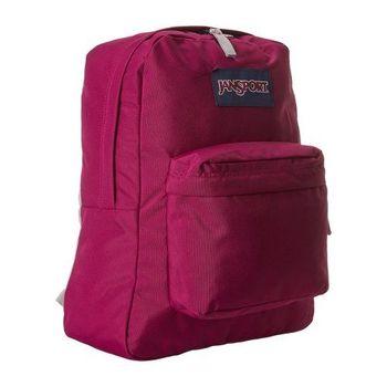 JanSport 2014時尚方邊簡緻梅果紫色後背包