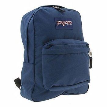 JanSport 2014時尚方邊簡緻深藍色後背包