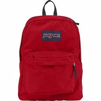 JanSport 2014時尚方邊簡緻紅色後背包