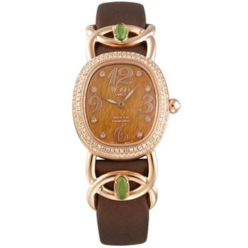 HOGA浪慢柔情寶石面盤真鑽腕錶-25mm