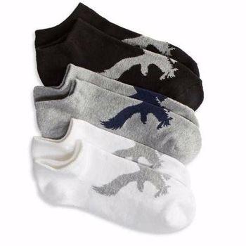 American Eagle 女典雅老鷹標誌混搭低切短襪3入組