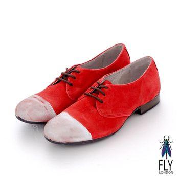 Fly London(女)★REDMOON 漆面半圓綁帶牛津休閒鞋