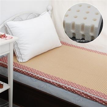 【Embrace英柏絲】天然乳膠床墊-雙人5尺(附水玉點點布套)