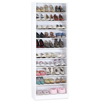 【Hopma】新時尚白十層鞋櫃