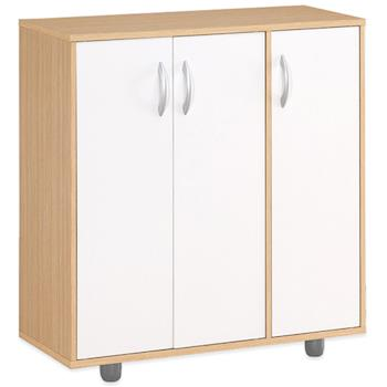 【Hopma】白橡配白三門五層鞋櫃