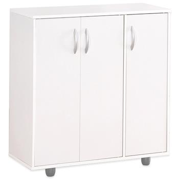 【Hopma】時尚白三門五層鞋櫃