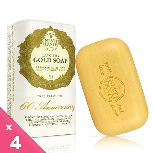 Nesti Dante 義大利手工皂-60週年限量版黃金能量皂(250g)-4入組