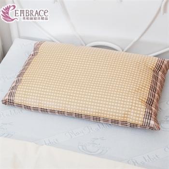 【Embrace英柏絲】典雅格紋系列透氣棉麻紙纖編織檜木枕中枕