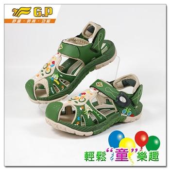 [GP]童鞋-多功能護趾涼鞋-G9158B-62(淺綠色)共四色