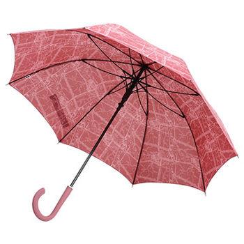 【SC life】米蘭地圖自動直傘-紅色