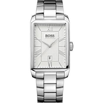 Hugo Boss 簡約羅馬時尚錶-銀/ H1512971