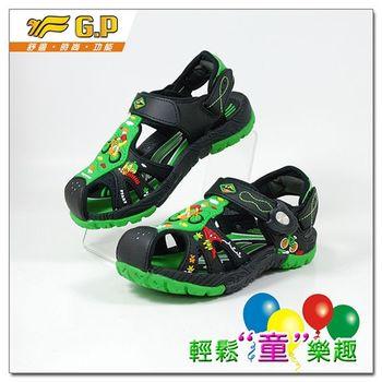 [GP]快樂童鞋-多功能護趾涼鞋-G9158B-60(綠色)共四色