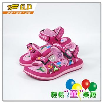 [GP]快樂童鞋-水果圖案涼鞋-G9173B-45(桃紅色)共三色