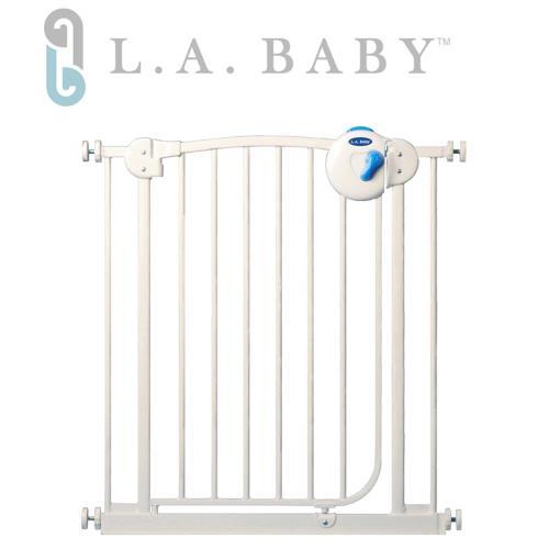 【L.A.Baby】雙向自動上鎖柵欄/鐵門欄(三道安全鎖裝置)