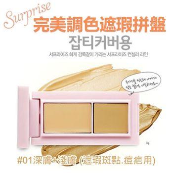 韓國ETUDE HOUSE完美調色遮瑕拼盤8g#01深膚+淺膚