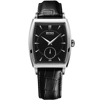 Hugo Boss 德式酒桶型小秒針腕錶-黑 H1512845