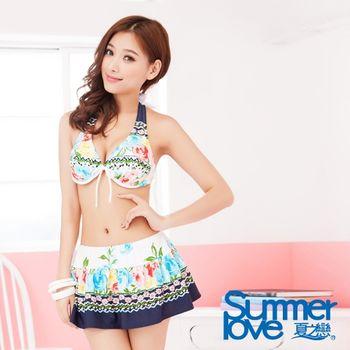【SUMMERLOVE 夏之戀】南國風鋼圈比基尼三件式E13722