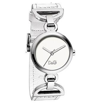 【D&G】典雅時尚皮帶腕錶(白色)