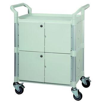 【COLOR】OA多功能3層圍邊工具/餐推車(附門鎖/高級儀器輪)