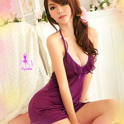 曼妙迷人東森電視購物電話 甜美柔緞睡襯衣NA09020061-1