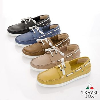 Travel Fox(男) STYLE-風格流行 素面牛皮帆船鞋