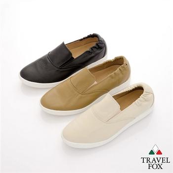 Travel Fox(男) STYLE風格流行 後跟鬆緊羊皮懶人鞋