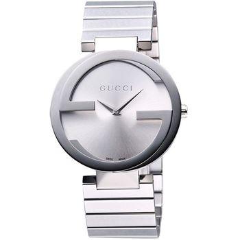 GUCCI 時尚元素腕錶-銀 YA133503